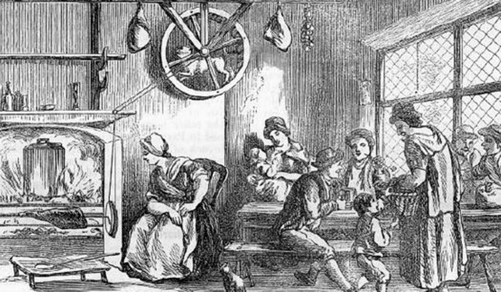 A turnspit dog doing its thing