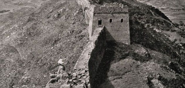 William Edgar Geil on the Great Wall at Luowenyu