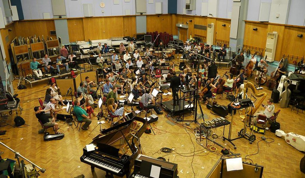 The London Symphony Orchestra rehearses Johan Holmström's composition for Candy Crush Soda Saga at the Abbey Road Studios.