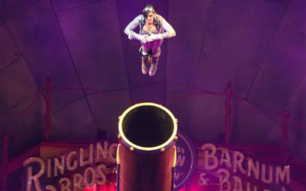 Shes a human cannonball!