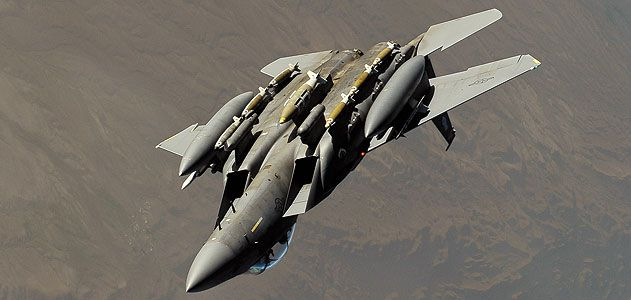A 2010 flight of two F-15Es (here, a Strike Eagle in Afghanistan earlier this year) saved the lives of 30 coalition troops surrounded by 100 insurgents.