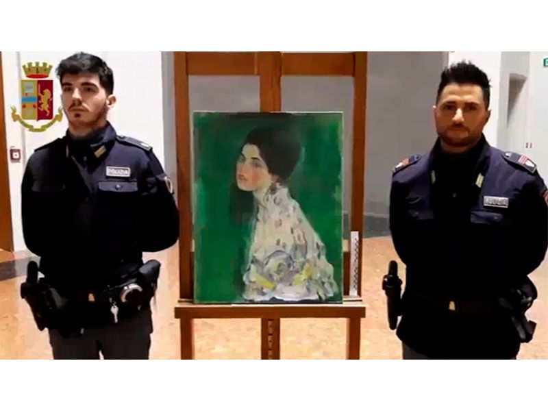 Painting Found Inside Walls of Italian Gallery May Be a Stolen Klimt