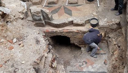 Hebrew Inscription Emerges From Ruins of the Great Synagogue of Vilna