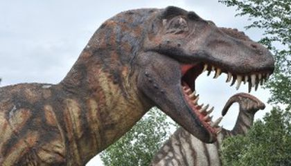 The Old Meets the New at Odgen's Dinosaur Park