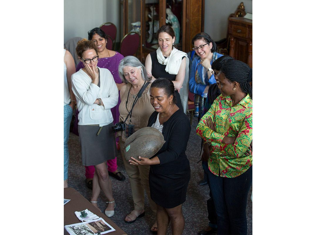 Participants brought items from their homes and shared why each one was meaningful to them during the Participants Conference. (Michael Barnes, Smithsonian)