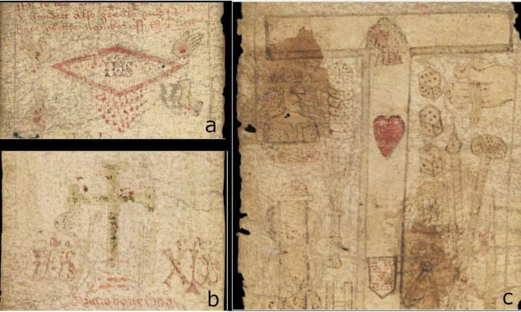 Details of the Medieval Scroll