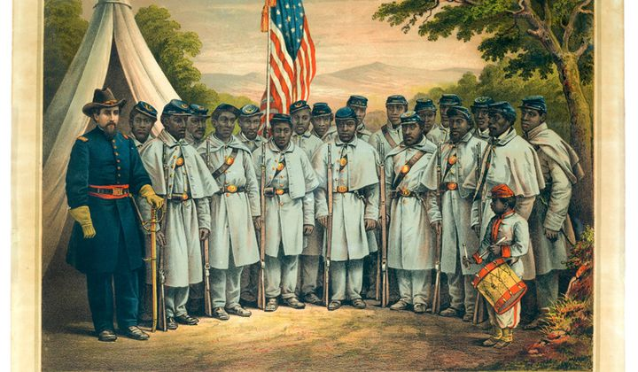Many contemporaries argued that Black men had more than earned the right to vote through their military service in the Civil War. (NMAH)