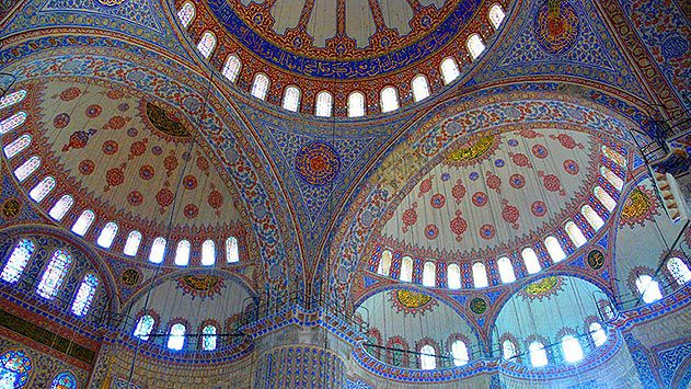 Interior of Blue Mosque Istanbul Turkey