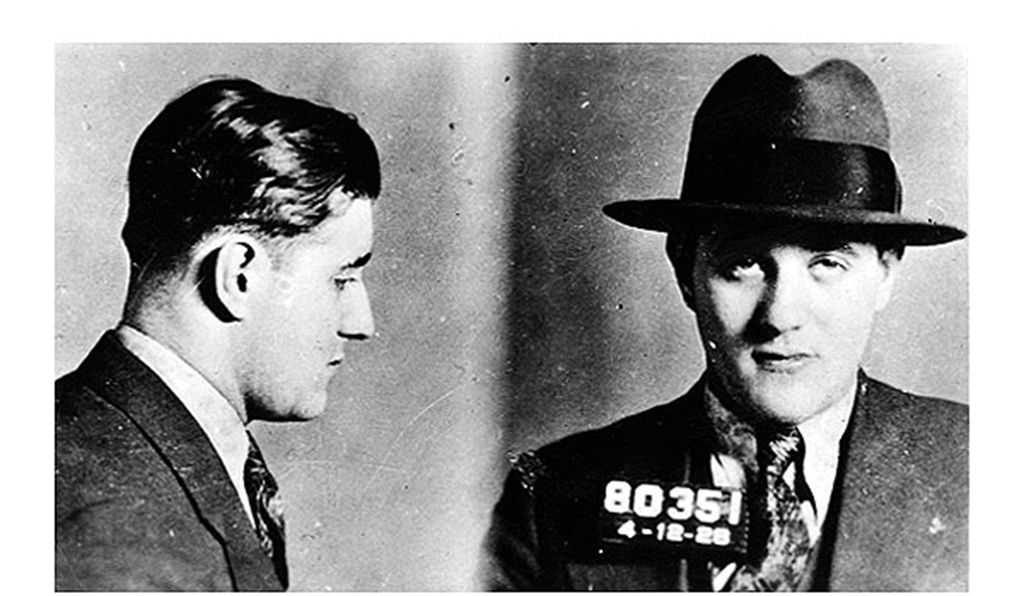 Bugsy Siegel mugshot on February 12, 1928.