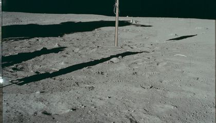Faded Flags on the Moon