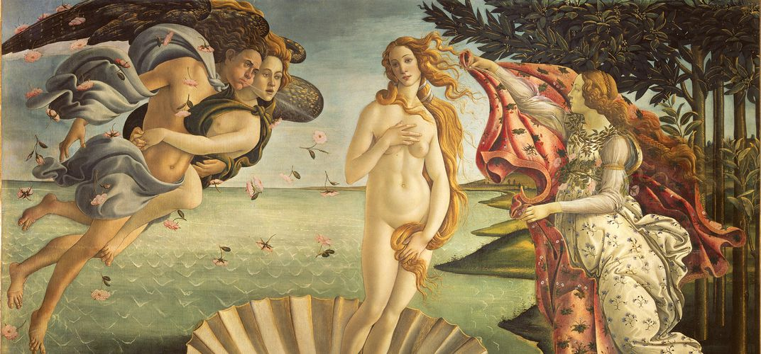 Botticelli's <i>The Birth of Venus</i> in the Uffizi in Florence