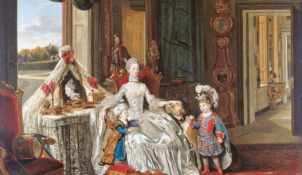 <em>Queen Charlotte with her Two Eldest Sons</em>, Johan Zoffany, 1765
