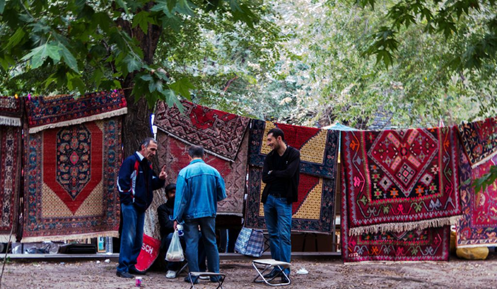 Yerevan merchants at the Sunday Vernissage, a showcase of handcrafted goods.