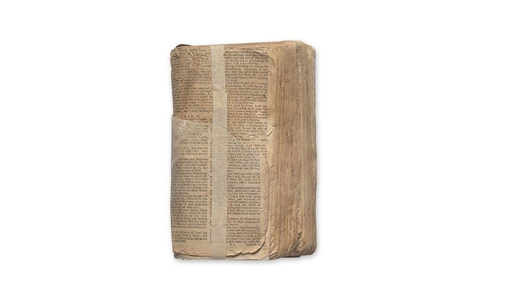 """I knew there were things out there,"" Bunch says (above: a Bible that belonged to Nat Turner), ""but I didn't realize the depth or extensiveness, and how much people would trust us to give us that material."""