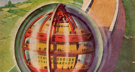 Illustration for the February, 1946 issue of the sci-fi magazine Amazing Stories