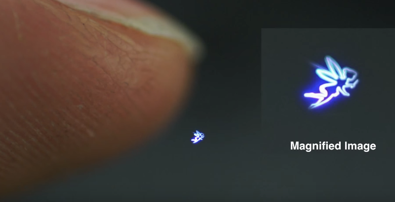 Touchable holograph