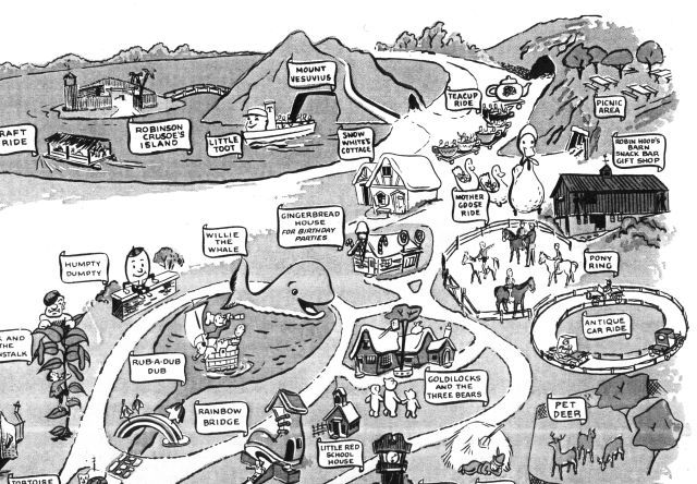 A Map From The Early Years Of Enchanted Forest Courtesy Linda Harrison Gardner