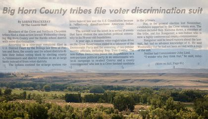 To Make Native Votes Count, Janine Windy Boy Sued the Government