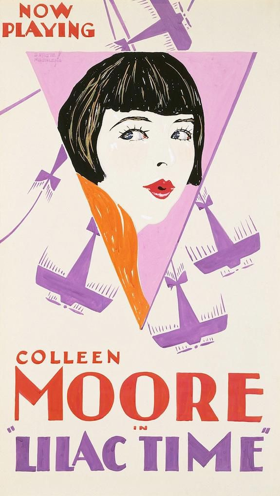 Colleen Moore by Batiste Madalena. Gouache over graphite poster, 1928