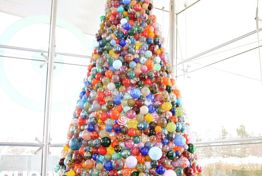 this one of a kind christmas tree is made of 2000 handmade glass ornaments travel smithsonian - Origin Of Christmas Tree