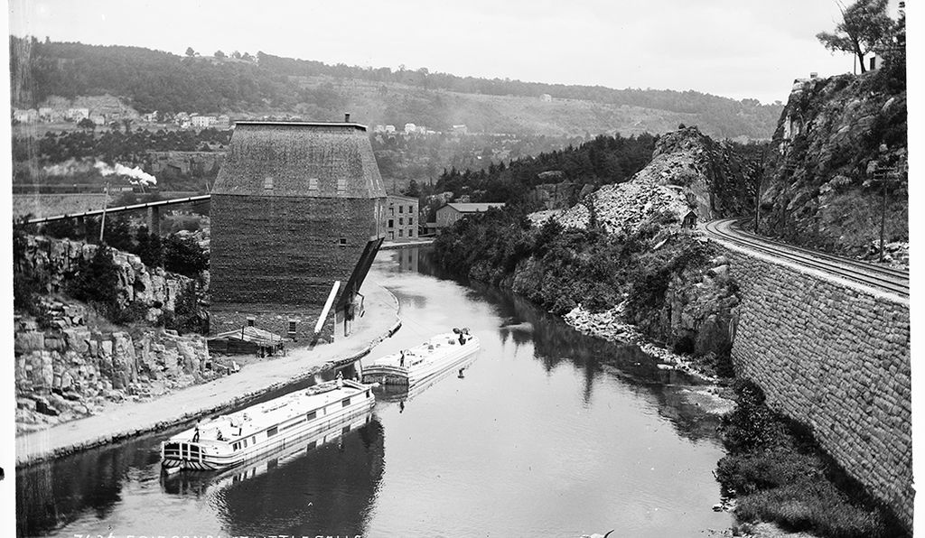 The Erie Canal at Little Falls.