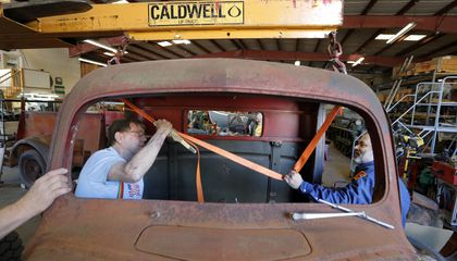 Image: National WW2 Museum renovating 1943 home front fire truck