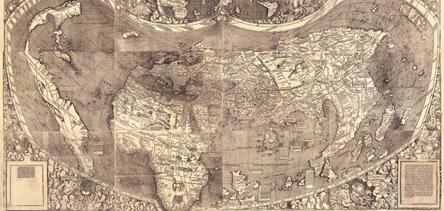 The waldseemller map charting the new world history smithsonian two obscure 16th century german scholars named the american continent and changed the way people thought about the world waldseemuller map gumiabroncs Gallery