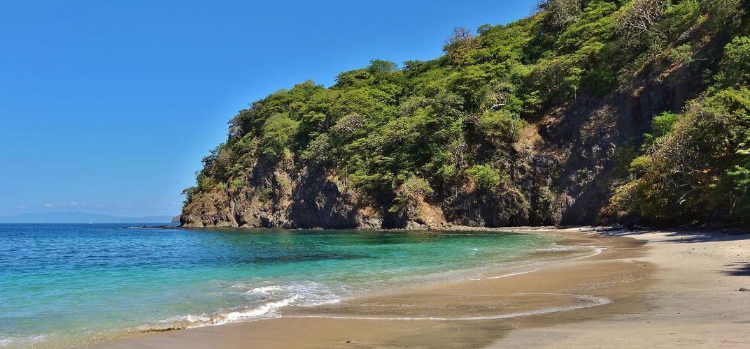 Beach along the coast of Guanacaste