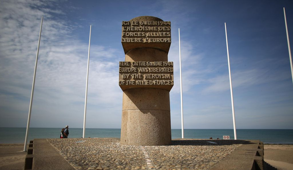 A memorial at Juno Beach, on of the landing sites on D-Day