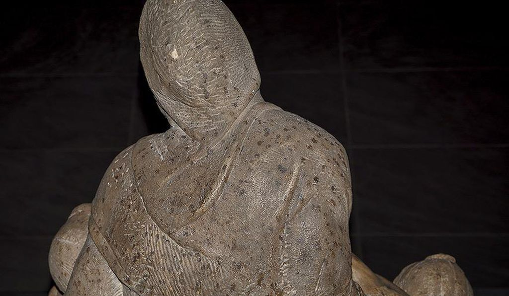 The roughly 470-year-old sculpture is in dire need of restoration.