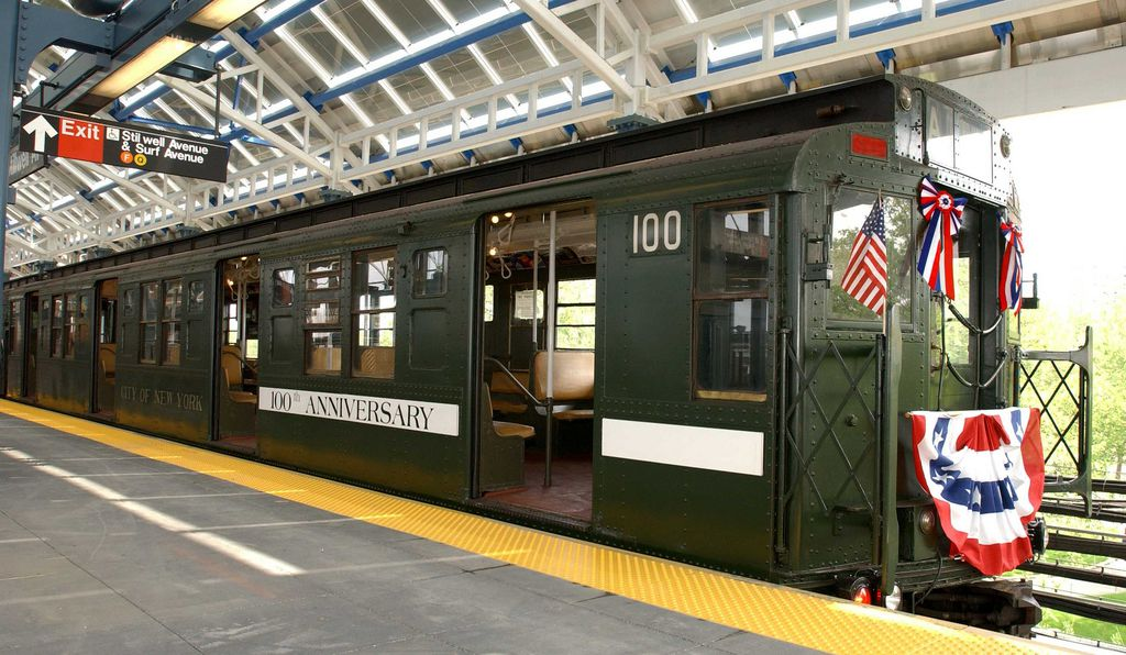 The Nostalgia Train operates during the holidays and features retired trains.