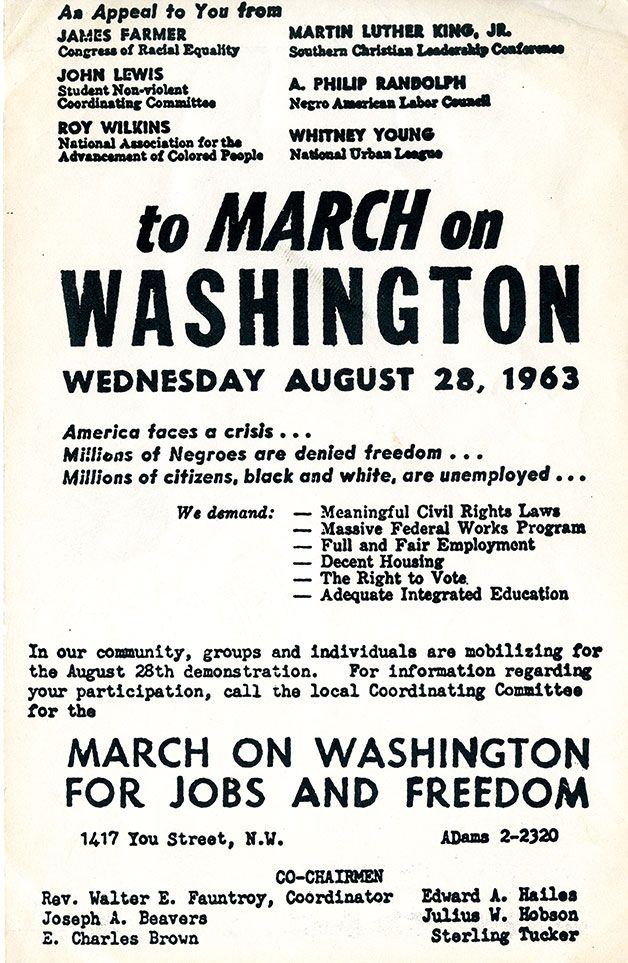 An Oral History Of The March On Washington History Smithsonian
