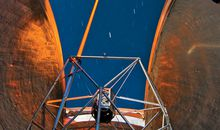 Inside a Keck telescope dome