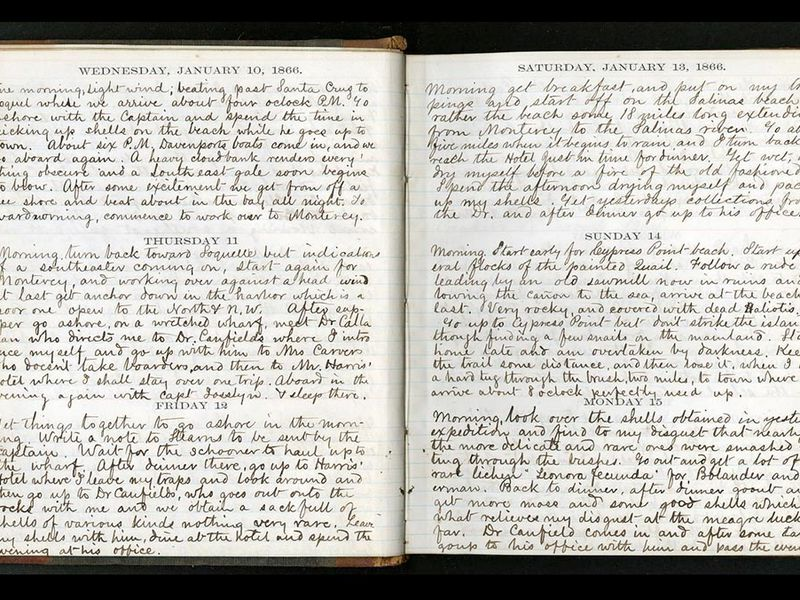 William Dall Diary Page