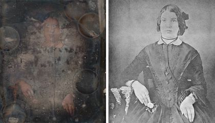 Particle Accelerator Reveals Hidden Faces in Damaged 19th-Century Daguerreotype Portraits