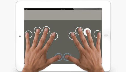 An App Helps the Blind to Type Quickly and Efficiently on an iPad