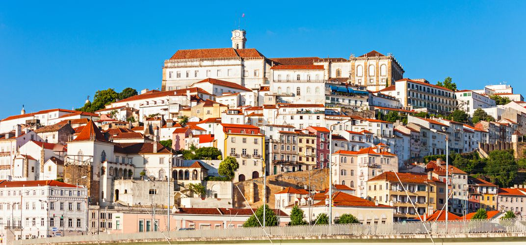 The town of Coimbra, featuring the university, a World Heritage site