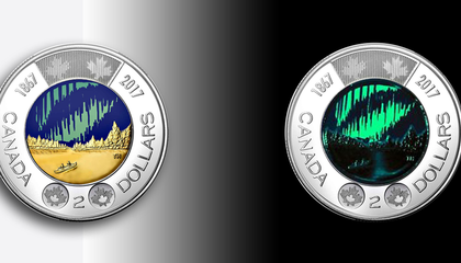 Canada's New Two-Dollar Coins Glow in the Dark