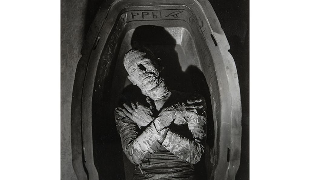Boris Karloff as the titular undead priest in <i>The Mummy</i>.