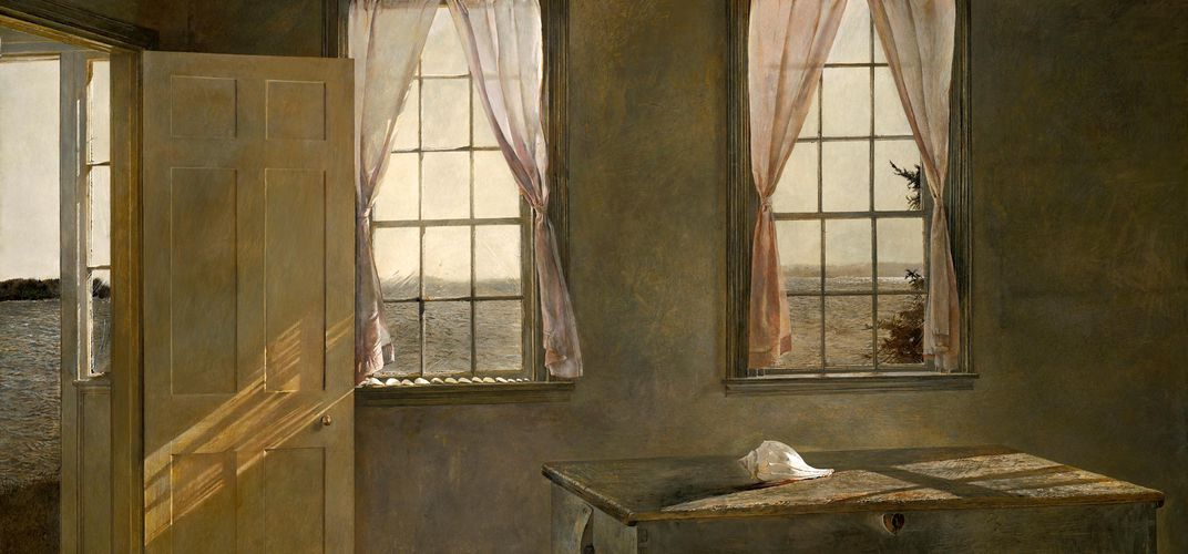 Andrew Wyeth, <i>Her Room</i>. Credit: Farnsworth Art Museum