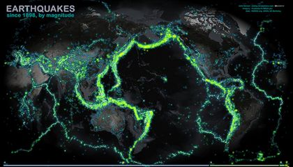 100 Years of Earthquakes On One Gorgeous Map