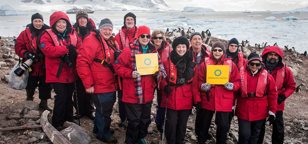 Smithsonian travelers and expert Jim Zimbelman in Antarctica