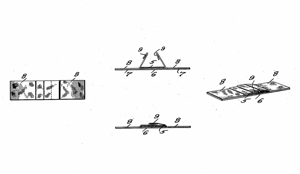 Drawings from the original Band-Aid patent show that the modern product hasn't changed all that much.