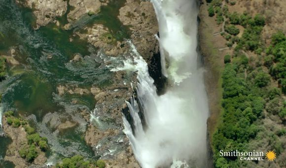Preview thumbnail for video'Stunning Aerial Footage of Victoria Falls