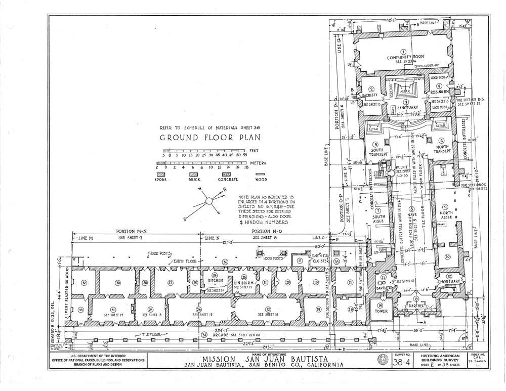 Plan of Mission San Juan Bautista