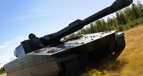 This stealth tank can change its surface temperature at will, making it invisible to infrared cameras.