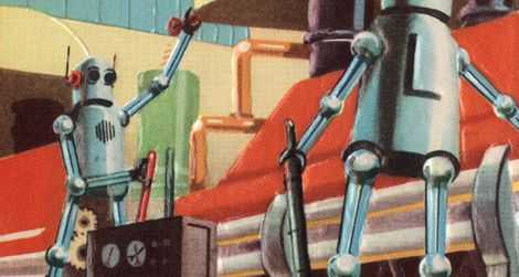Art from the 1950s envisioned a future with robots. Are we there yet?