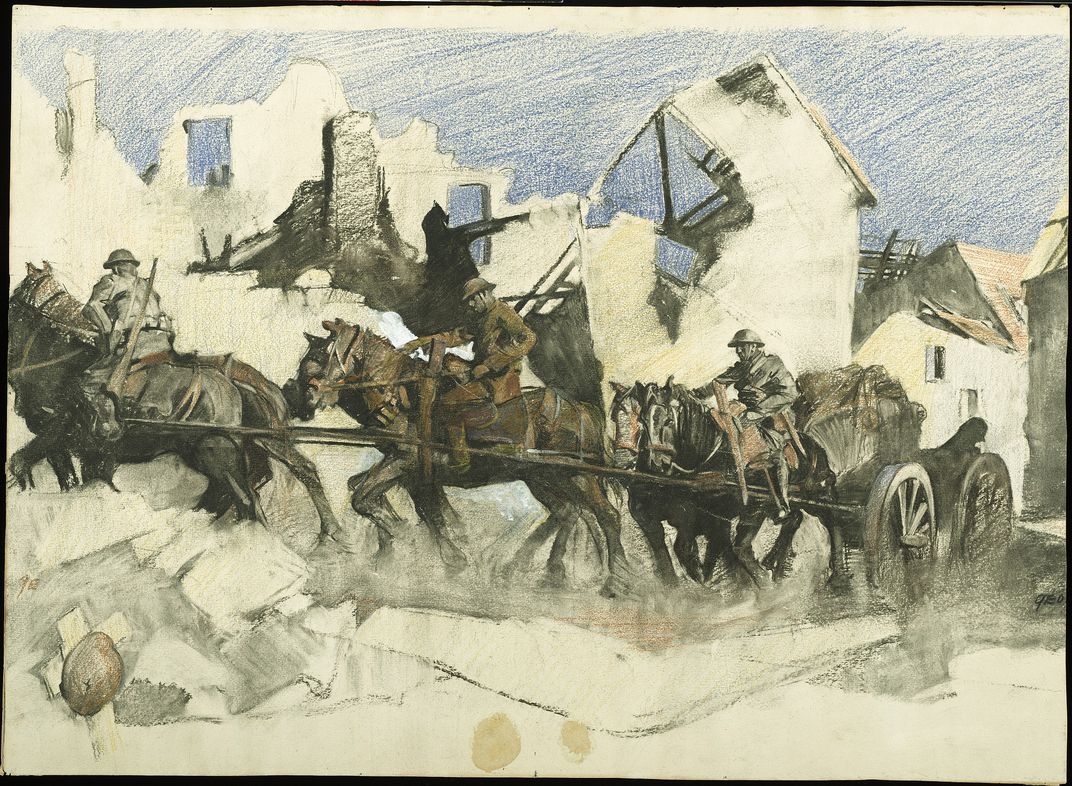 this riveting art from the front lines of world war i has gone