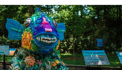 There's a Bunch of Animals at the Zoo this Summer Made Out of Ocean Garbage