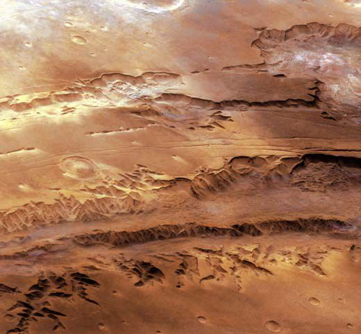 Multi-frame mosaic of West Chandor Chasma
